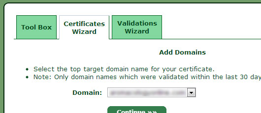 add domain ssl certificate